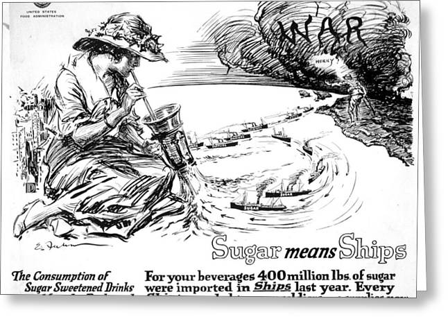 World War I Poster, 1917 Greeting Card