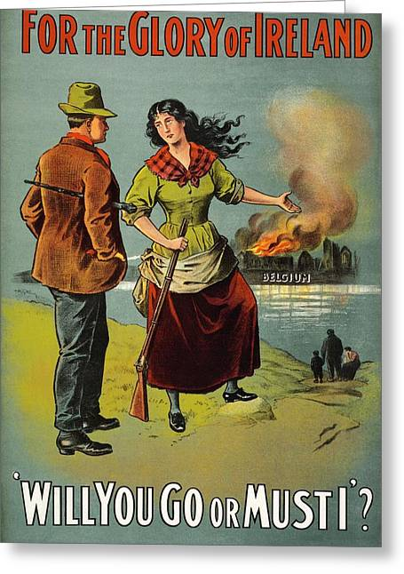 World War I Recruitment Poster Greeting Card by Library Of Congress