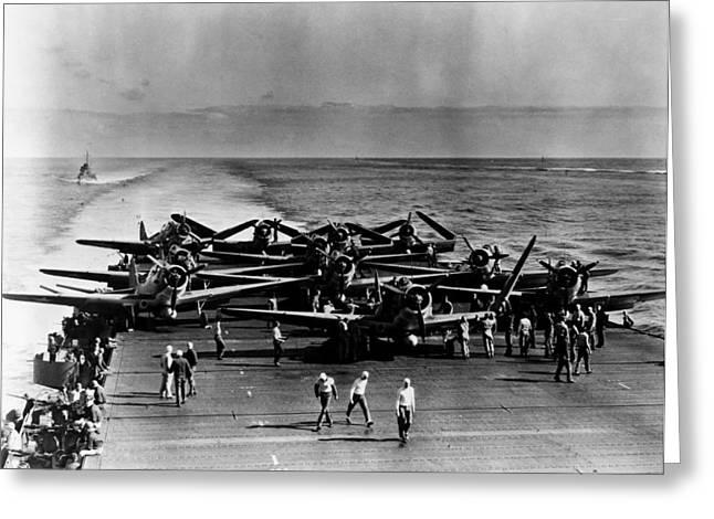 World War II: Midway, 1942 Greeting Card