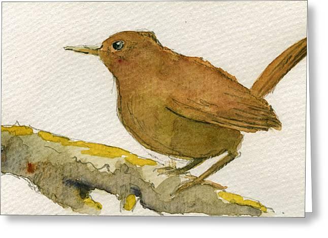 Wren Bird Greeting Card