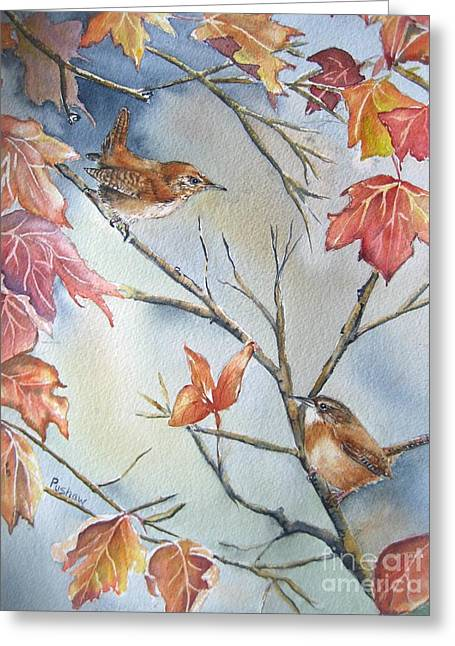 Wren To Wren Greeting Card by Patricia Pushaw