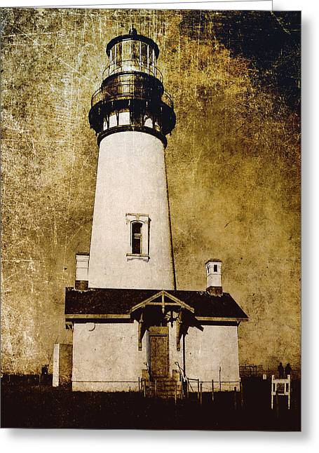 Yaquina Head Lighthouse - Oregon Greeting Card by Daniel Hagerman