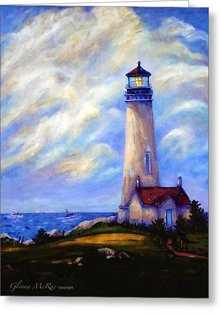 Yaquina Head Lighthouse Oregon Greeting Card