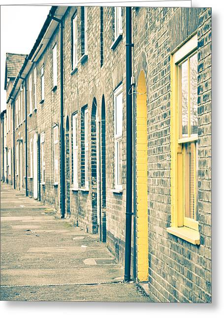 Yellow Door Greeting Card by Tom Gowanlock
