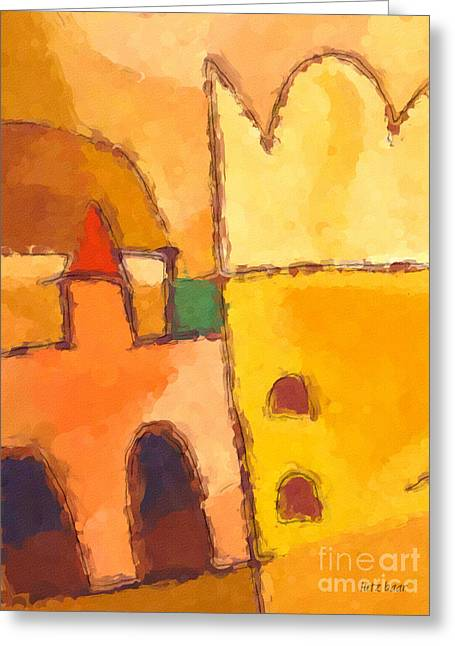Yellow Impression Greeting Card by Lutz Baar