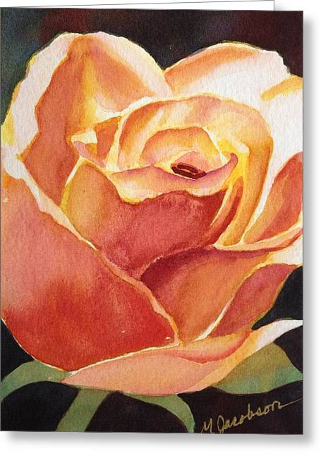 Yellow Rose Greeting Card by Marilyn Jacobson