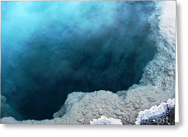 Yellowstone Blue Greeting Card by Patricia Januszkiewicz