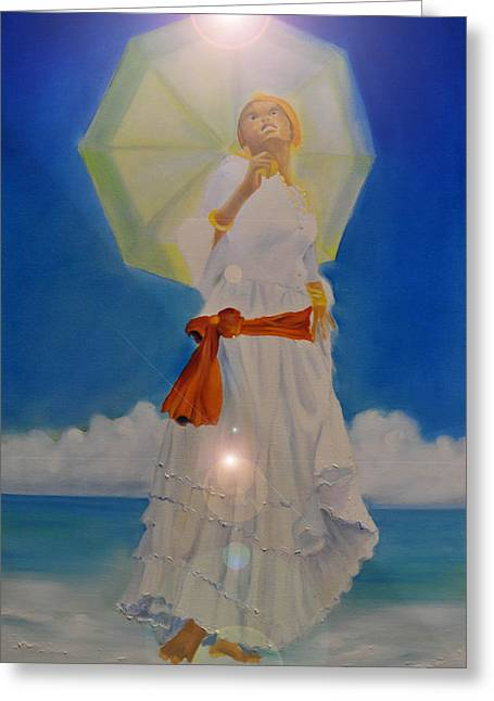 Belle Creole   Yemaya I Greeting Card by KCatia Creole Art