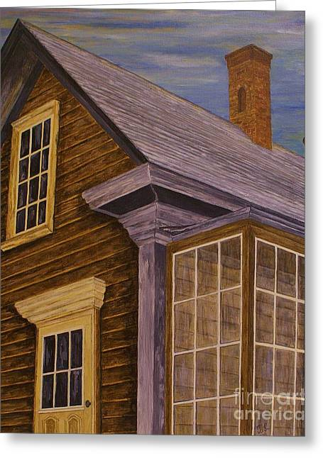 Greeting Card featuring the painting You Can Always Go Home by Jane Chesnut