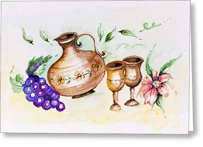 Young French Wine  Greeting Card by Irina Gromovaja