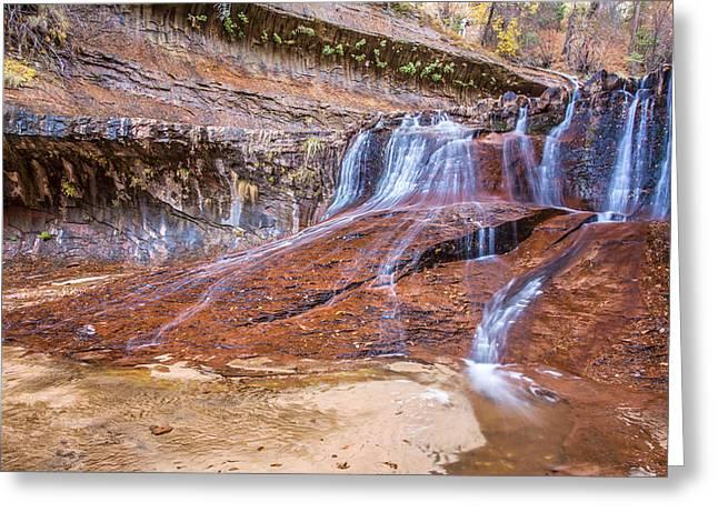 Zion Waterfall Greeting Card