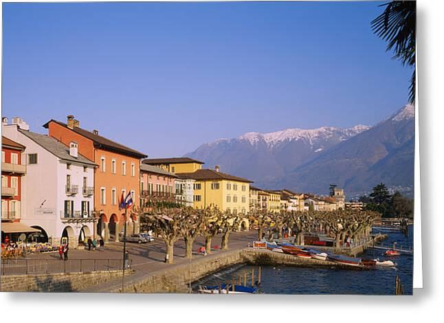 Buildings At The Waterfront, Lake Greeting Card by Panoramic Images