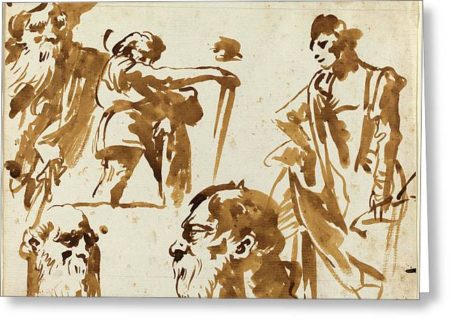 Giovanni Domenico Tiepolo Italian, 1727 - 1804 Greeting Card by Quint Lox