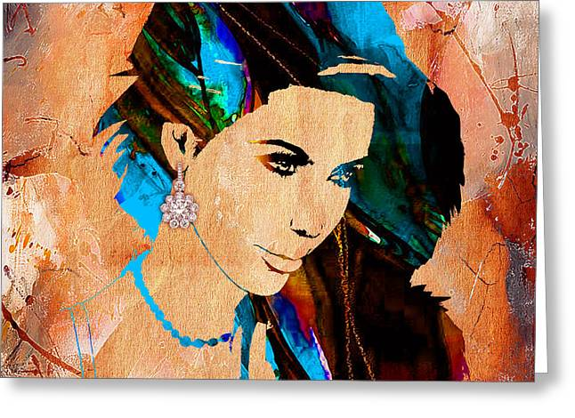 Kim Kardashian Collection Greeting Card by Marvin Blaine