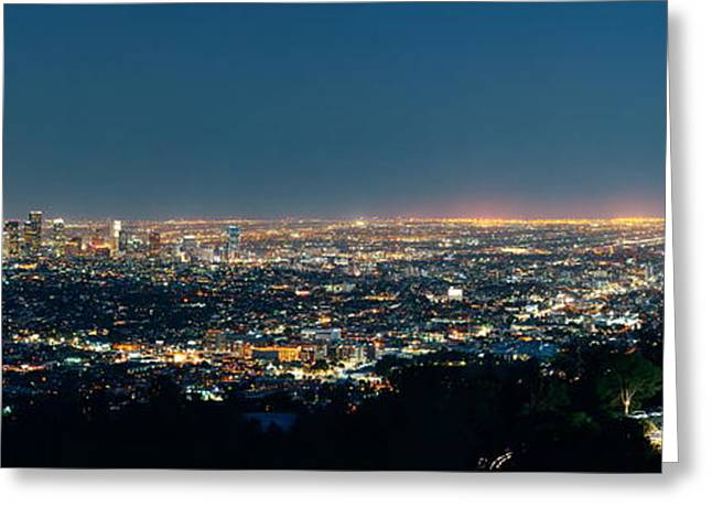 Los Angeles At Night Greeting Card
