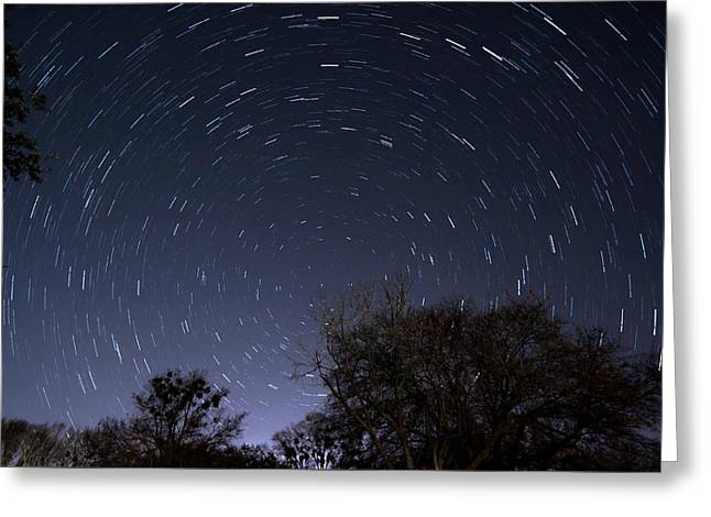 Greeting Card featuring the photograph 20 Minutes Of Star Movement by Todd Aaron