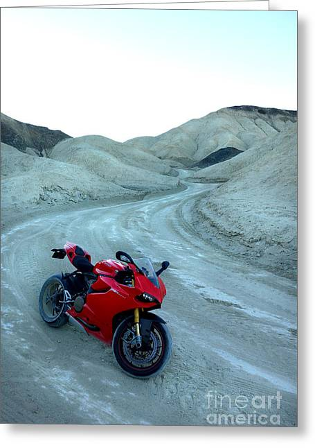 20 Mule Team Canyon Greeting Card by AntiHero Panigale