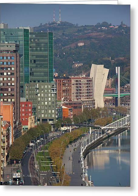 Spain, Basque Country Region, Vizcaya Greeting Card by Walter Bibikow