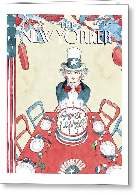 New Yorker July 4th, 2005 Greeting Card