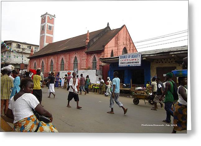 200 Year Old Methodist Church-sani Abacha Street  Greeting Card