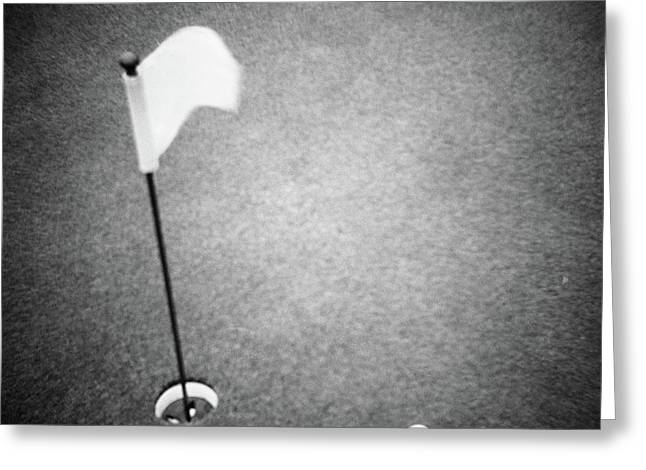 2000s Golf Ball On Putting Green Greeting Card