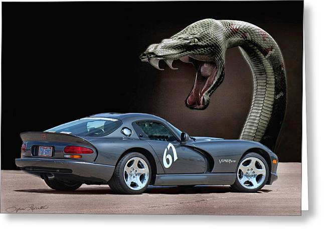 2002 Dodge Viper Greeting Card