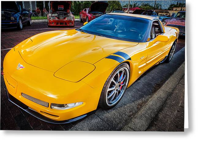 2003 Corvette Ls1 5-7ltr Dons Painted Greeting Card by Rich Franco