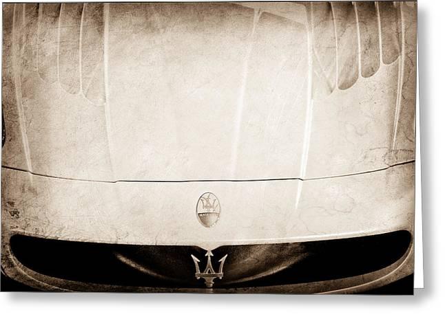 2005 Maserati Mc12 Hood Ornament Greeting Card by Jill Reger