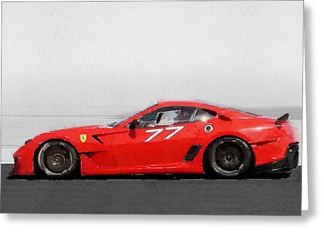 2006 Ferrari 599 Gtb Fiorano Watercolor Greeting Card