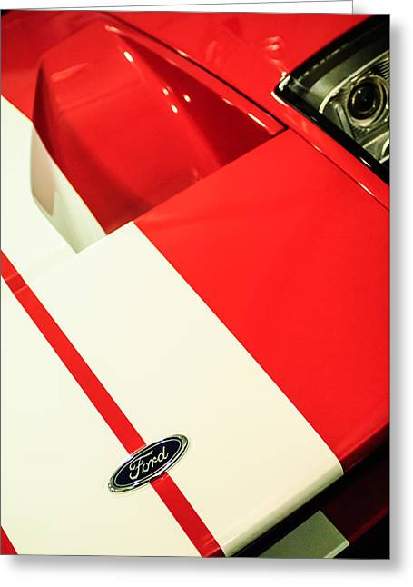 2006 Ford Gt Hood Emblem -0412c Greeting Card