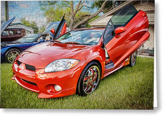 Mitsubishi Eclipse Greeting Cards Fine Art America