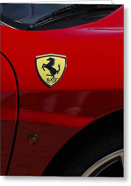 2007 Ferrari F430 Spider F1 Greeting Card by Jill Reger