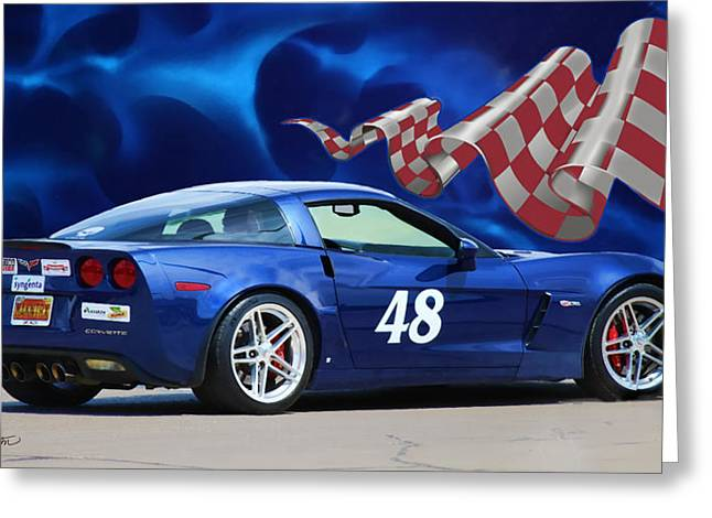 2007 Z06 Corvette Greeting Card by Sylvia Thornton