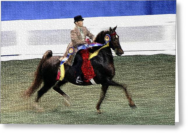 2008-a World Championship Horseshow - Louisville Ky Greeting Card by Thia Stover