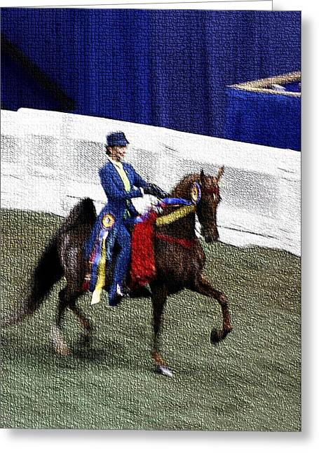 2008-b-world Championship Horseshow - Louisville Ky Greeting Card by Thia Stover
