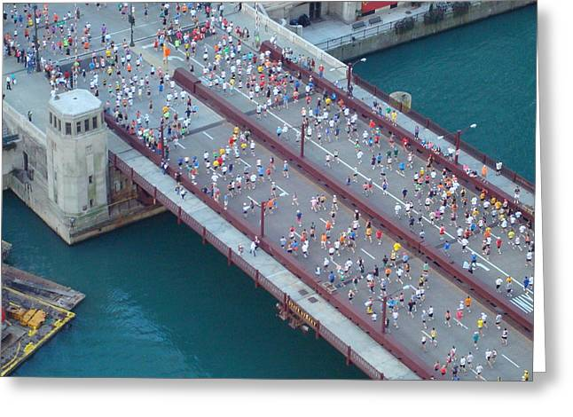 2008 Chicago Marathon Greeting Card by Kay Gilley