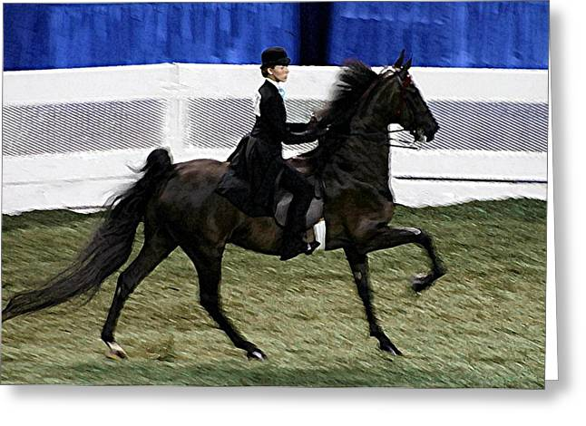 2008-d-world Championship Horse Show - Louisville Ky Greeting Card by Thia Stover