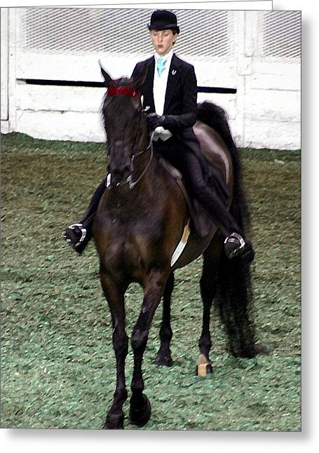 2008-e-world Championship Horse Show - Louisville Ky Greeting Card by Thia Stover