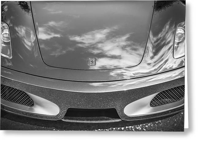 2008 Ferrari F430 Bw Greeting Card by Rich Franco