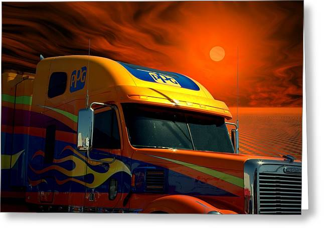 2008 Freightliner Coronado Ppg Semi Truck Greeting Card