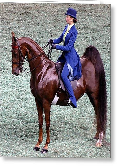 2008-g World Championship Horse Show - Louisville Ky Greeting Card by Thia Stover