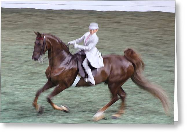 2008-h World Championship Horse Show - Louisville Ky Greeting Card by Thia Stover