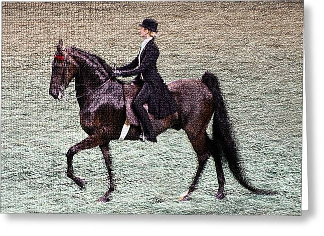 2008-i World Championship Horse Show - Louisville Ky Greeting Card by Thia Stover