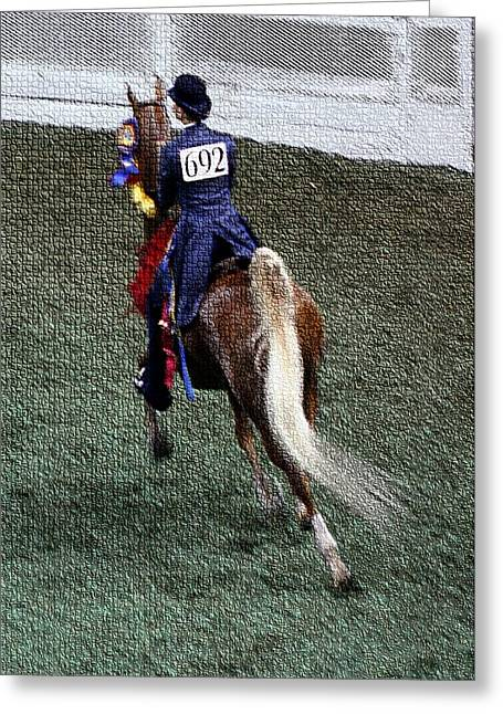 2008-jj World Championship Horse Show - Louisville Ky Greeting Card by Thia Stover