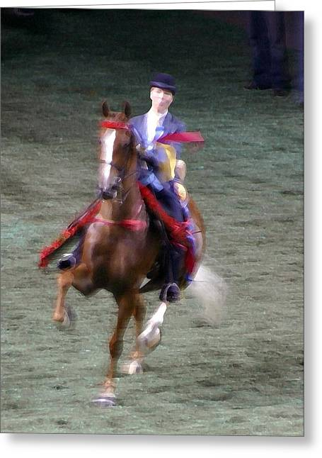 2008-k World Championship Horse Show - Louisville Ky Greeting Card by Thia Stover