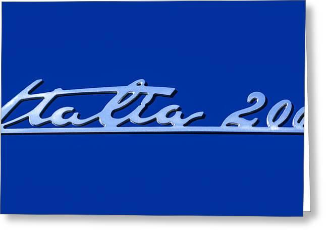 2008 Maserati Gran Turismo Emblem - Italia 2000 Emblem Greeting Card