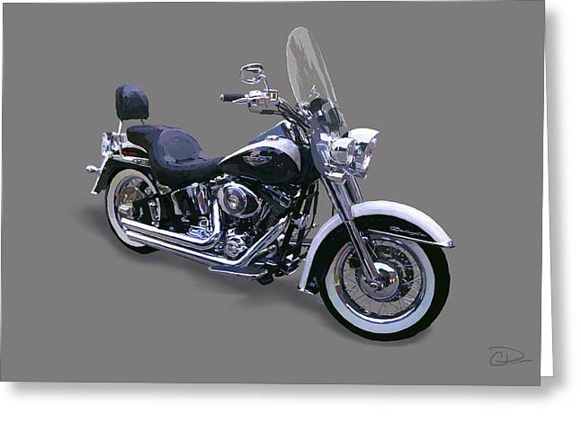2009 Harley Davidson Softail Deluxe Greeting Card