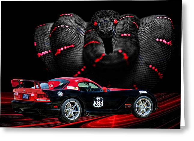 2010 Dodge Viper Greeting Card by Sylvia Thornton