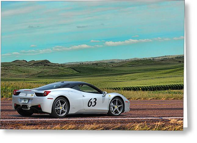 2010 Ferrari Greeting Card by Sylvia Thornton