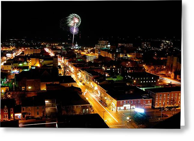 2010 New Years Eve Fireworks Greeting Card by Paul Wash
